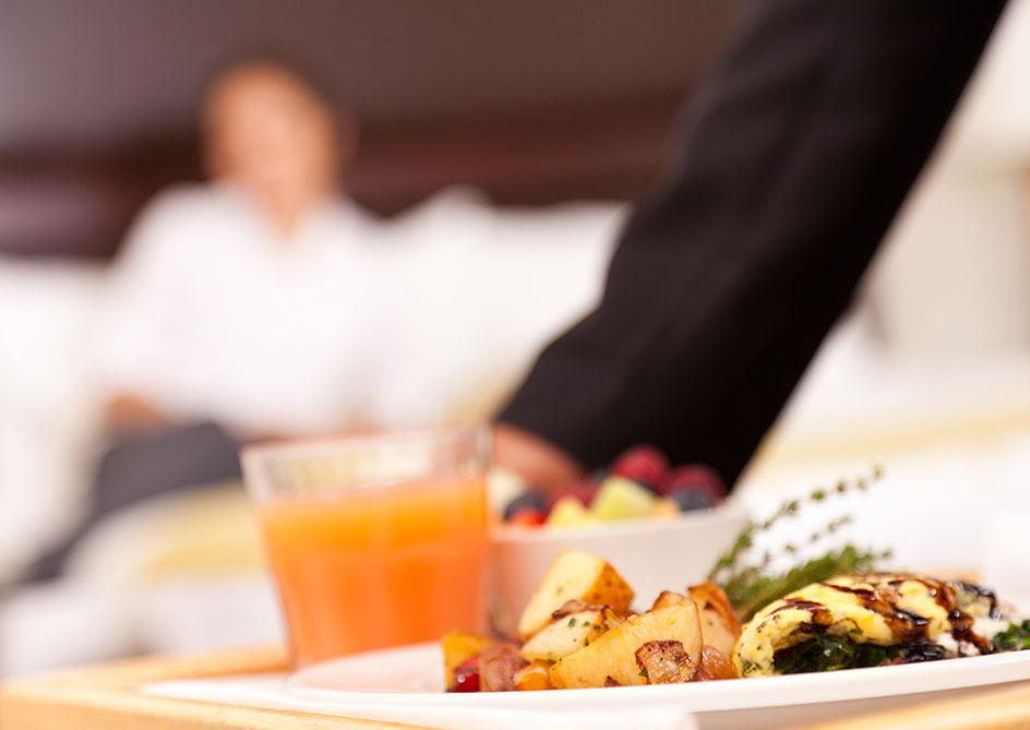 In-Room Dining at Grande Lakes Orlando resort, Florida