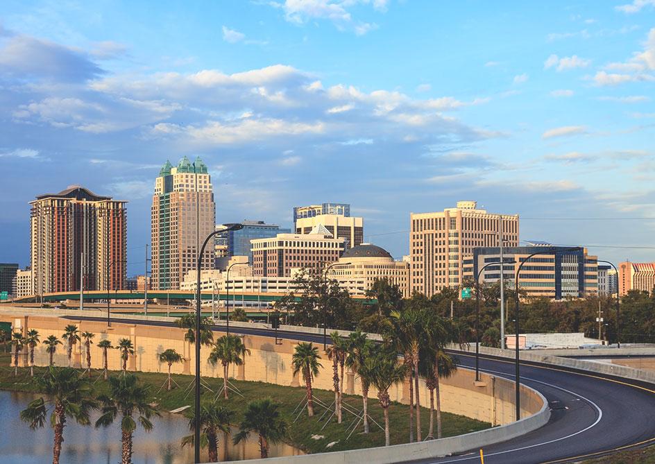 From south Florida via Florida's turnpike to Grand lakes Orlando resort, Florida