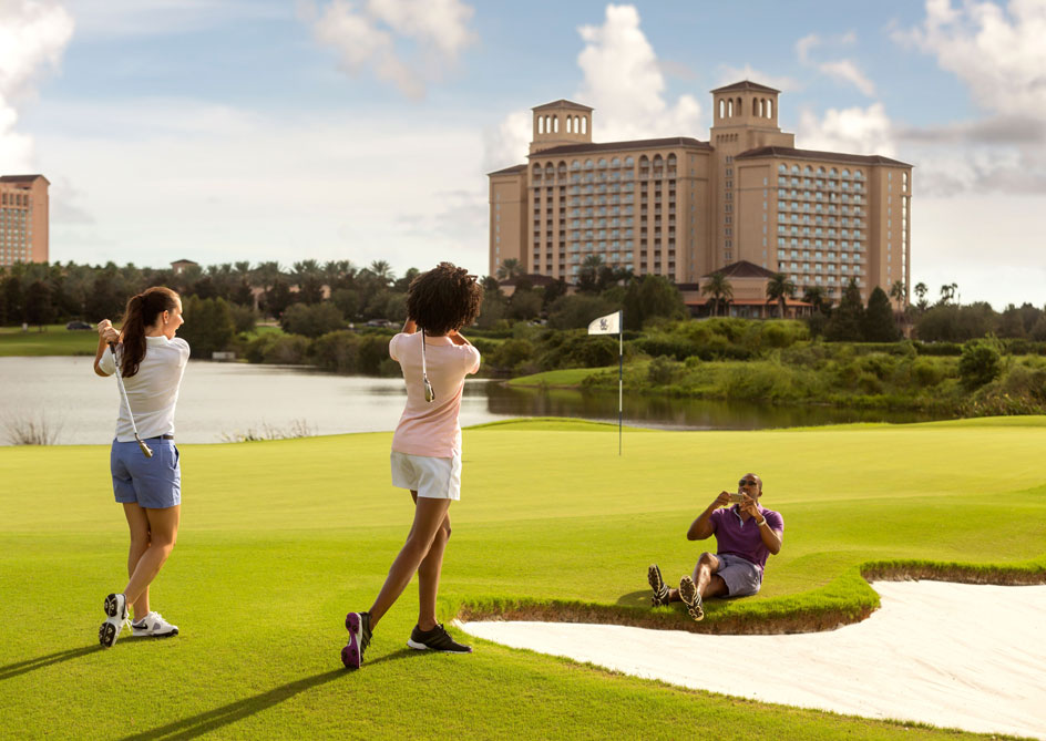 Golf Instruction at Grand lakes Orlando resort, Florida