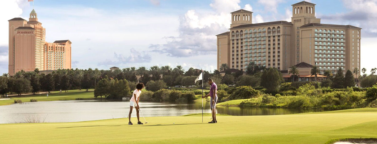 Golf at Grand lakes Orlando resort, Florida