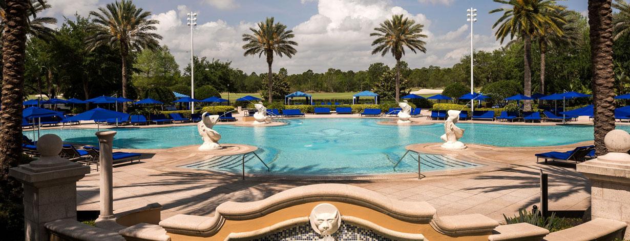 Pools & Aquatics at Grand lakes Orlando resort, Florida