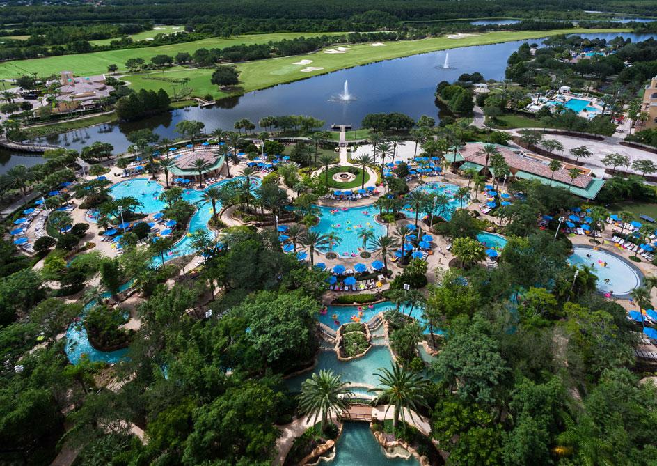 JW Marriott Lakefront Rooms at Grande Lakes Orlando resort, Florida