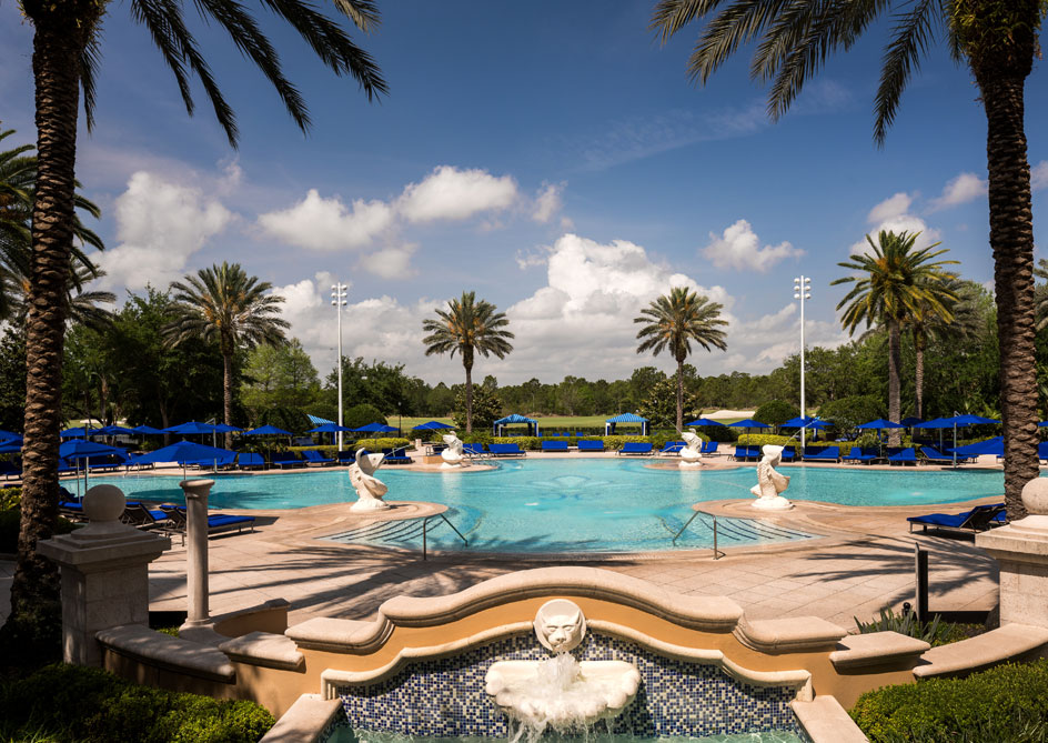 Pools & Cabanas at Grande Lakes Orlando resort, Florida