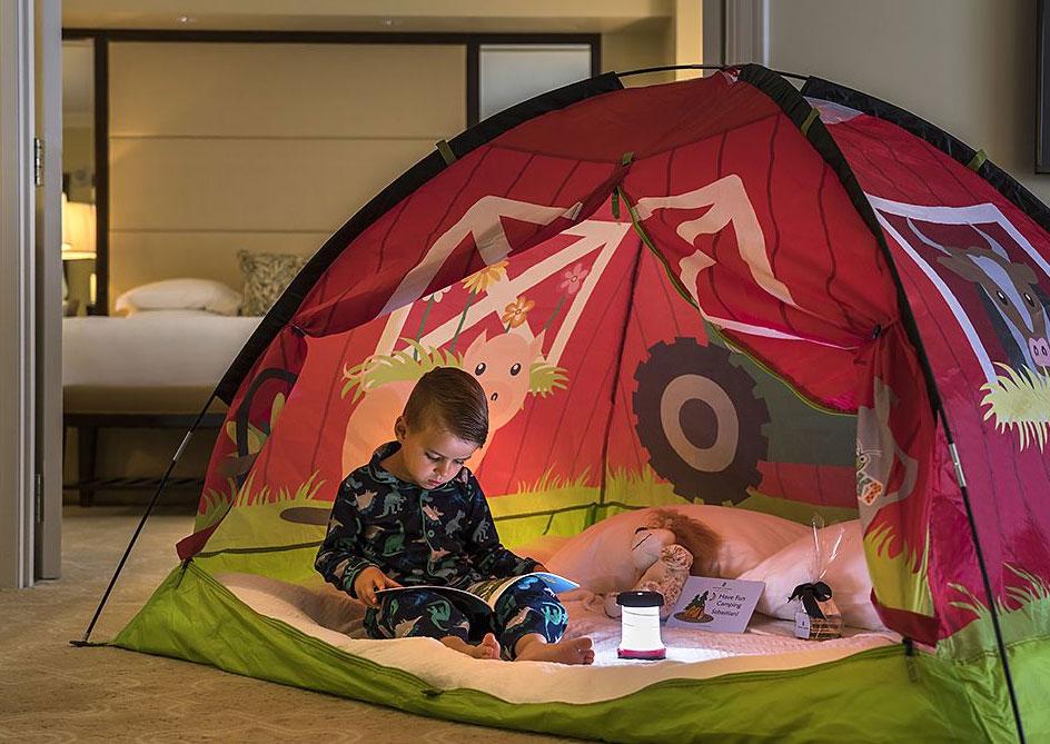 In-Room Camping at Orlando, Florida