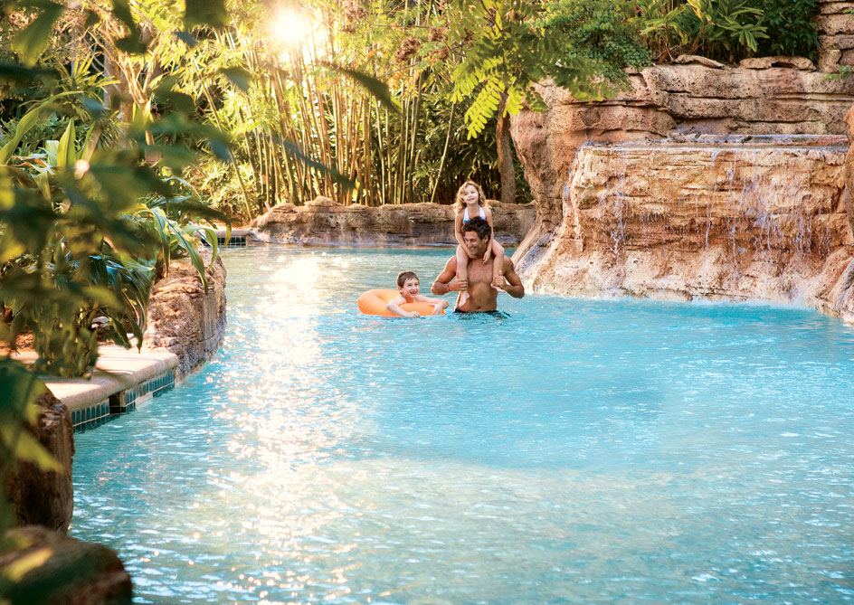 Lazy River at Grand lakes Orlando resort, Florida