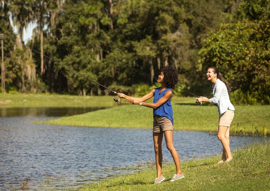Fishing at Grand lakes Orlando resort, Florida