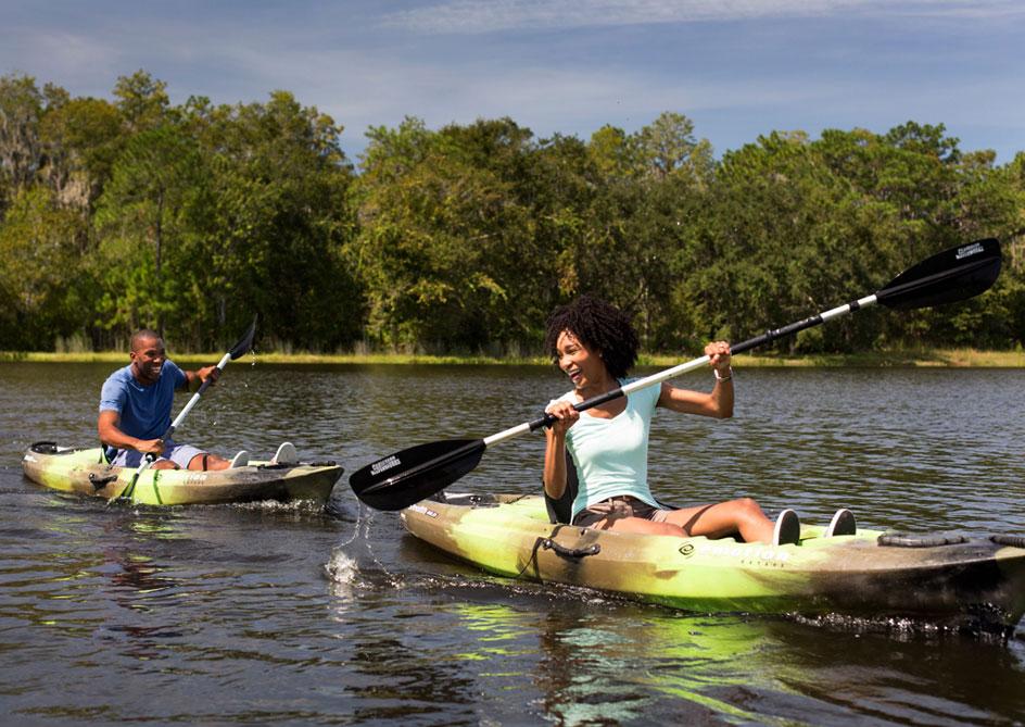 Kayaking & Pedal Boating at Grand lakes Orlando resort, Florida